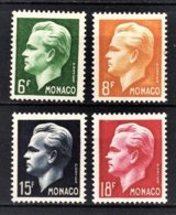 MONACO 1951 -  Y.T. SERIE N° 365 A 368 - 4 TP NEUFS** / 7 - Monaco
