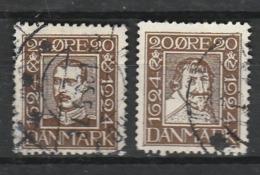 DANEMARK 1924 YT N° 163 Et 164 Obl. - 1913-47 (Christian X)