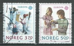 Norvège YT N°976/977 Europa 1989 Jeux D'enfants Oblitéré ° - 1989