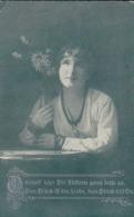 AK Könnt Ich's Dir Flüstern... - Frau Mit Blumen - Poesie - Feldpost Erlangen 1917 (44198) - Frauen