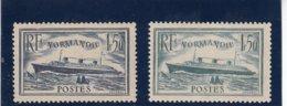France - 1935-36 - N°YT 299**& 300** Le Normandie - Cote 235€ - Nuovi