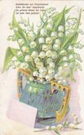 AK Maiblümchen Aus Freundeshand - Maiglöckchen In Jugendstil Vase - Lemgo 1905 (44199) - Blumen