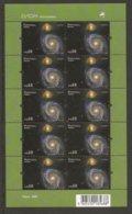 """MADEIRA  - EUROPA 2009  - TEMA  """"ASTRONOMIA"""" - SERIE En  HOJA BLOQUE De 10 DENTADA - Europa-CEPT"""