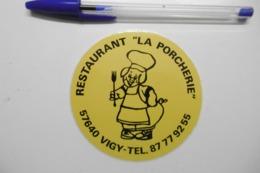 """Autocollant Stickers - Restaurant """"LA PORCHERIE"""" à VIGY 57 MOSELLE - Autocollants"""