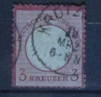 Deutsches Reich 1872, Mi. 9: 3 Kreuzer, 2. Wahl / 2nd Quality - Deutschland