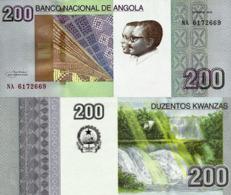 ANGOLA 200 Kwanzas 2012 - Tchimbue Falls, P154a, UNC, Very Rare - Angola