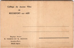 COLLEGE DE JEUNES FILLES ROCHEFORT-SUR-MER DEPLIANT ILLUSTRE 7 PHOTOS  ET TARIF - Rochefort