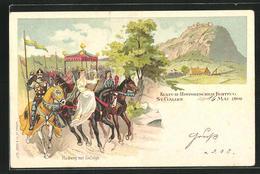 Lithographie St. Gallen, Kultur-Historischer Festzug 1899, Hadwig Mit Gefolge - SG St-Gall