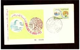 Maroc.  FDC. 1982. Palestine. Jumelage Al Qods-Fès. Etat Moyen - Morocco (1956-...)