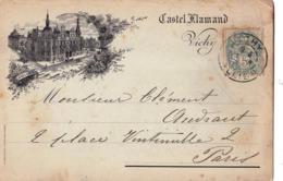 CPA  Rare Carte Gravée Du  Castel Flamand  à Vichy (03) L Collet   Voyagée 1903 - Vichy