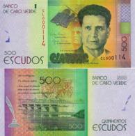 """CABO """"CAPE"""" VERDE 500 Escudos From 2014, P72, UNC - Cabo Verde"""