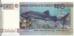 DJIBOUTI 40 FRANCS 2017 UNC P 46 - Dschibuti