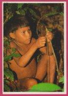 NU ETHNIQUE BRESIL SERIE AMAZONICA ENFANT NU YANOMAMI FABRIQUANT SON ARC Nude Child Boy - Männer < 1945