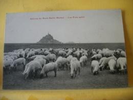 H 7522 CPA - 50 GREVES DU MONT ST MICHEL. LES PRES SALES. EDIT. J. PUEL - ANIMATION. TROUPEAU DE MOUTONS - Le Mont Saint Michel