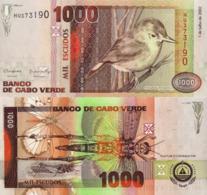 CAPE VERDE 1000 Escudos From 2002, P65, UNC - Cabo Verde
