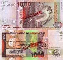 """CAPE VERDE 1000 """"SPECIMEN"""" Escudos From 2002, P65s, UNC - Cap Verde"""