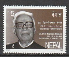 2003 The 90th Anniversary Of The Birth Of Dili Raman Regmi, Politician And Historian, 1913-2001 1v ** - Nepal