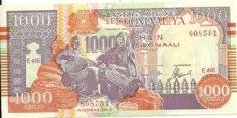 SOMALIE 1000 SHILLINGS 1990-2000 AUNC P R10 - Somalië