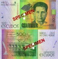 "CAPE VERDE 500 ""SPECIMEN"" ESCUDOS FROM 2014, P72s, UNC - Cape Verde"