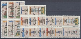 DDR, Michel Nr. 3134-3139 Zd - Kombi, Gestempelt - Zusammendrucke