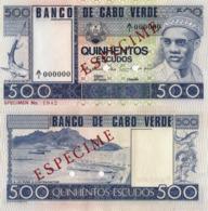 "CAPE VERDE 500 ""SPECIMEN"" ESCUDOS FROM 1977, P55s, UNC - Cape Verde"