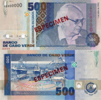"CAPE VERDE 500 ""SPECIMEN"" ESCUDOS FROM 2002, P64s, UNC - Cape Verde"