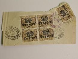 Polen, Partie Aus Den 1920er Jahren, Meist Briefstücke - Briefmarken