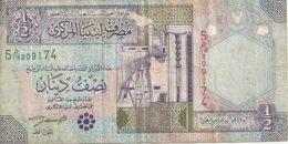 LIBYE 1/2 DINAR ND2002 VF P 63 - Libië