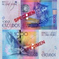 CAPE VERDE 1000 (SPECIMEN) Escudos From 2014, P73s, UNC - Cabo Verde