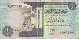 LIBYE 1/2 DINAR ND1991 VF P 58 - Libië