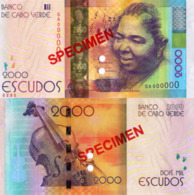"CAPE VERDE 2000 ""SPECIMEN"" Escudos From 2014, P74s, UNC - Cape Verde"