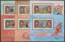 Zentralafrik. Republik, Michel Nr. 758-763 A Blöcke, Postfrisch / MNH - Zentralafrik. Republik