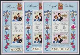 Anguilla, Michel Nr. 442-444 X B KB, Postfrisch / MNH - Anguilla (1968-...)