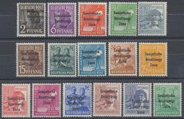 Sowjetische Zone, MiNr. 182-197 (ohne Nr. 195), Postfrisch / MNH - Soviet Zone