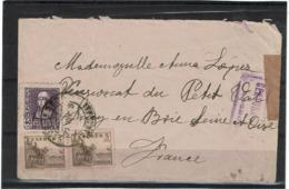 LCTN57/2 - ESPAGNE LETTRE NOVEMBRE 1938 CENSURE - 1931-50 Lettres