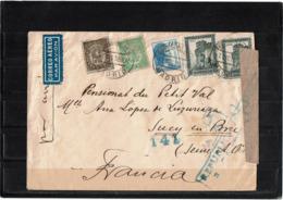 LCTN57/2 - ESPAGNE LETTRE AVION JUIN 1938 CENSURE - 1931-Today: 2nd Rep - ... Juan Carlos I