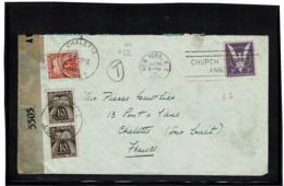 LCTN57/2 - ETATS UNIS  LETTRE  JANVIER 1945 DESTINATION CHALETTE TAXEE ARRIVEE - Etats-Unis
