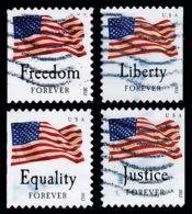 Etats-Unis / United States (Scott No.4673-76 - Drapeau / US / Flag) (o) Booklet All Position - Verenigde Staten