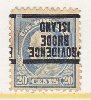 U.S. 515    Perf.  11   *    RHODE  ISLAND   1917 Issue - Precancels