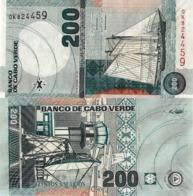 CAPE VERDE 200 Escudos Banknote, From 2005, P58, UNC - Cabo Verde