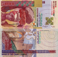 CAPE VERDE 5000 Escudos From 2000, P67, UNC - Cabo Verde