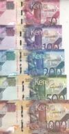 KENYA 50 100 200 500 1000 SHILLINGS 2019 P- NEW UNC FULL SET */* - Kenia