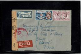 LCTN57/2 - GRANDE BRETAGNE EUROPE 1'6 SH SUR LETTRE RECOMMANDEE SEPTEMBRE 1960 CONTRÔLE POSTAL - 1952-.... (Elizabeth II)