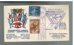 1943 El Salvador TACA Airlines First Flight Cover FFC To USA - Zentralamerika