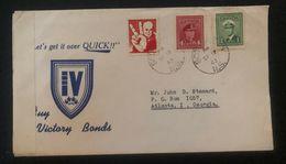 1943 Canada Patriotic Censored Cover To USA Winston Churchill Pace & Love Label - Unclassified