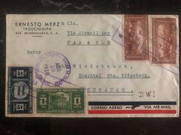 1939 Tegucigalpa  Honduras Commercial Airmail Cover To Willemstad Curacao - Zentralamerika