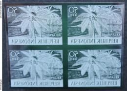 #57-KPI-273. Nuovo - INDONESIA - 1960 - Block 4. Prodotti Agricoli - Coconut - Kelapa 50 Sen,,piece Of Printing Plate! - Indonesien
