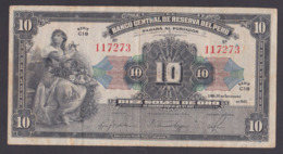 PERU 10 SOLES , 1941 - Peru