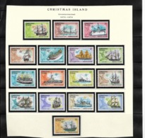 O) 1972 CHRISTMAS ISLAND, OLD SHIPS - EAGLE - FLYING - REDPOLE - HOI HOUW - PIGOT - VALETTA - ASIA - ISLANDER - IMPERIOU - Christmas Island