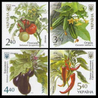 2016Ukraine 1572-75Vegetables 5,00 € - Vegetables